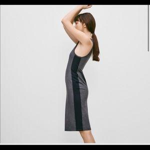 Aritzia community metron dress sz xs black grey
